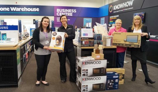 Currys PC World donate items to make parents more comfortable