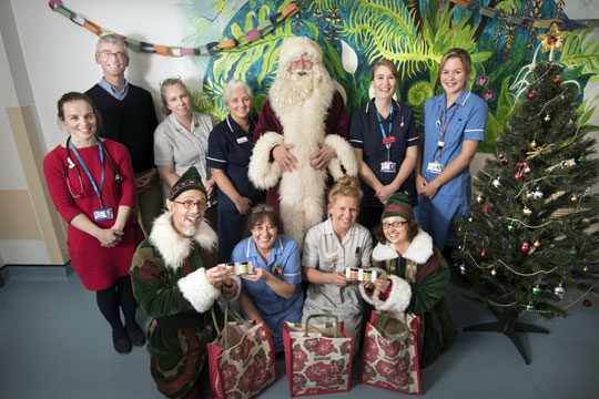 Father Christmas brings elf and happiness to Eden Ward