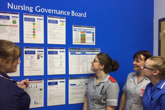 Trial of innovative noticeboard supports quality care