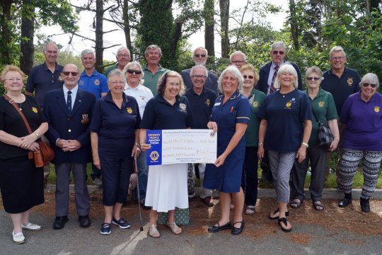 Lions Club donation to Chestnut Appeal