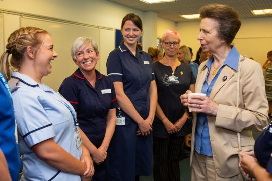 Royal recognition as HRH The Princess Royal visits maternity services at Royal Cornwall Hospital