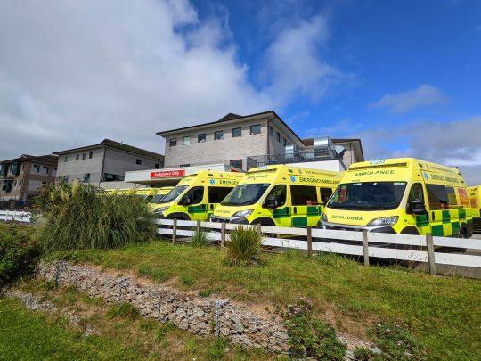 Ambulances Outside ED August 2021