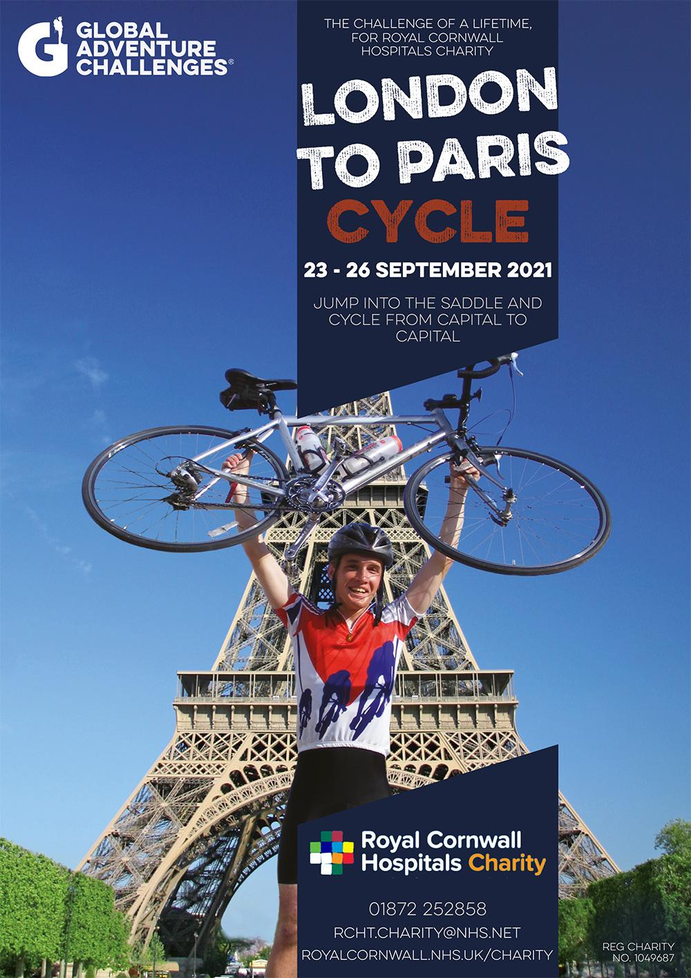 Poster - London to Paris challenge