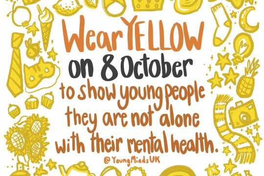 Wear Yellow on 8th October to show young people they are not alone with their mental health
