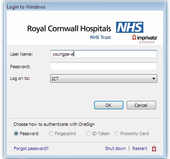 Screen showing where user enters their details