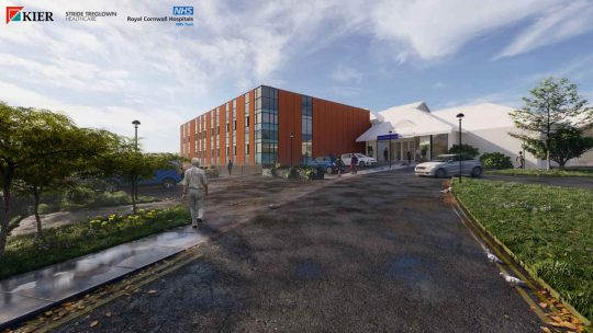 Artist's Impression of proposed Outpatient Development at West Cornwall Hospital