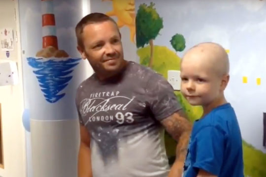 Ringing in a new life – Riley is first to sound new End of Treatment Bell