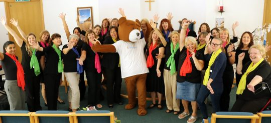 Hospital Choir voices support for BABA Appeal in  24 hour Singathon Event