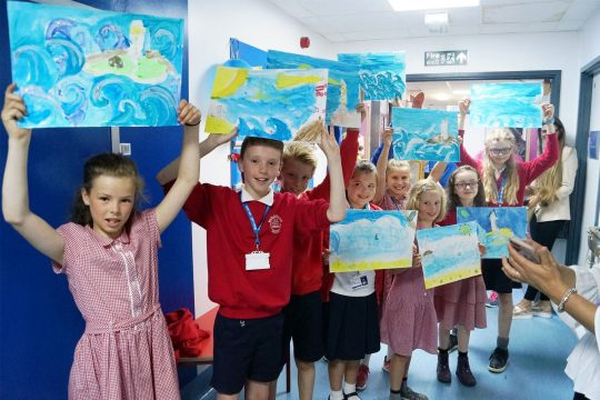 Falmouth school pupils unveil 'Wonderwall'