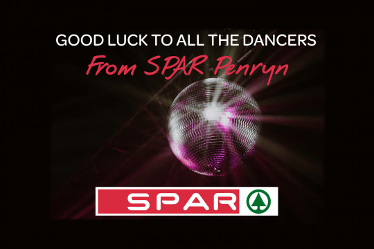 Graphic - Good luck to all the dancers from spar Penryn
