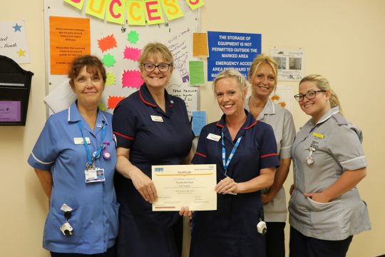 An education in first-class patient care: Trauma Unit at the RCHT receives CLiPP Champion Award for mentoring programme