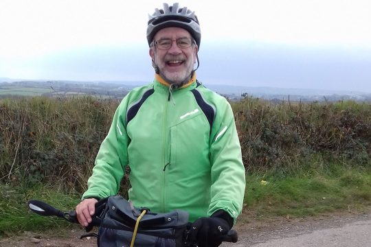 Phil Carson cycling London-46 for the Cornish Heart Unit Fund