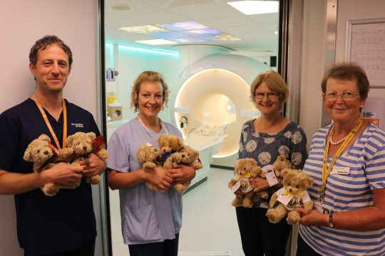 Friends' teddy donation makes MRI visits easier to bear for young children