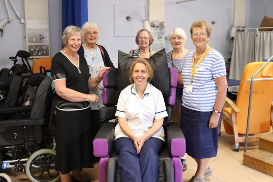 Friends' donation of rehabilitation chair provides state-of-the-art support for patients