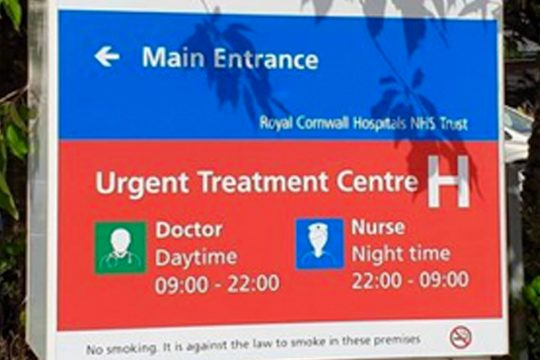 Survey reveals Urgent Treatment Centre team is good at allaying patients' fears