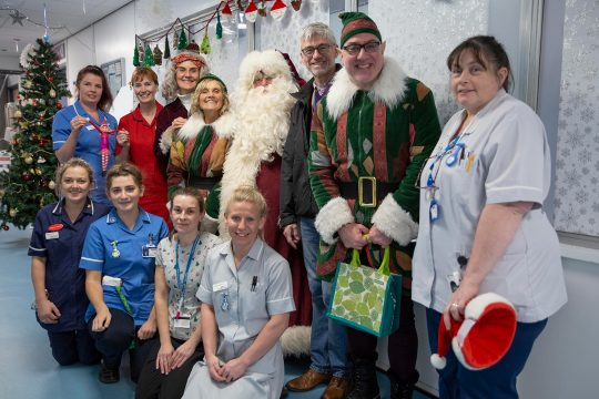 Eden's Father and Mother Christmas bring festive cheer to Royal Cornwall Hospital