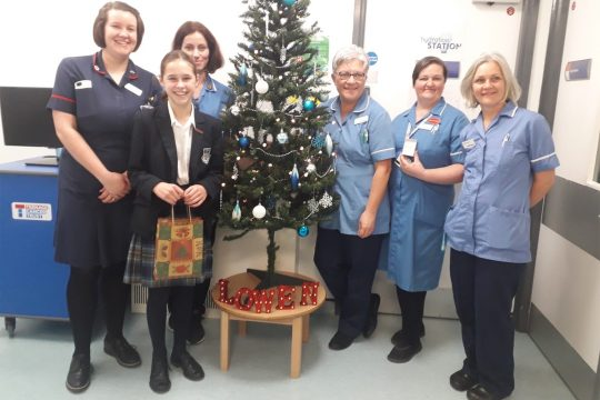Truro School pupil's heartfelt donation for patients this Christmas