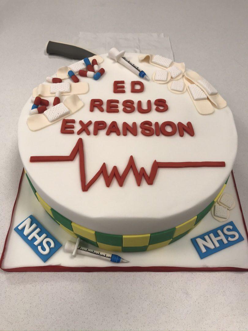 ED resus opening cake
